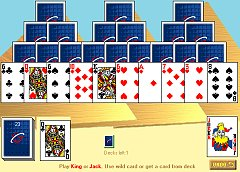 play online pyramids  or tri-peak solitaire
